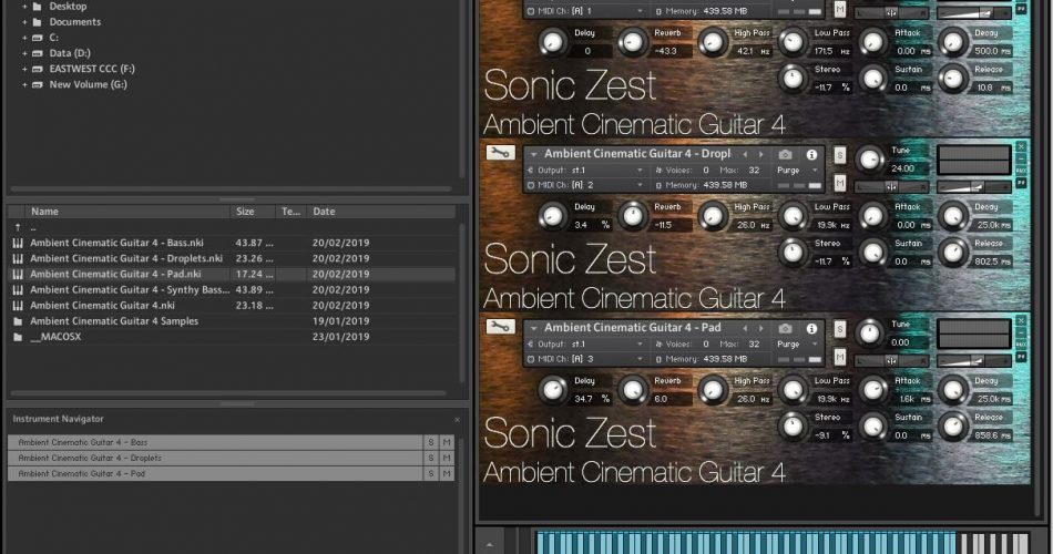 Sonic Zest Ambient Cinematic Guitar Kontakt