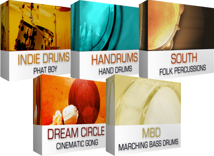 drums percussion bundle dream audio tools