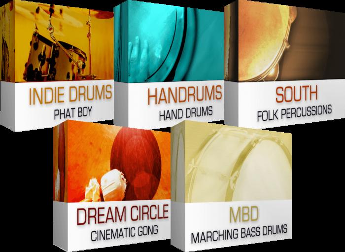 drums percussion bundle dream audio tools