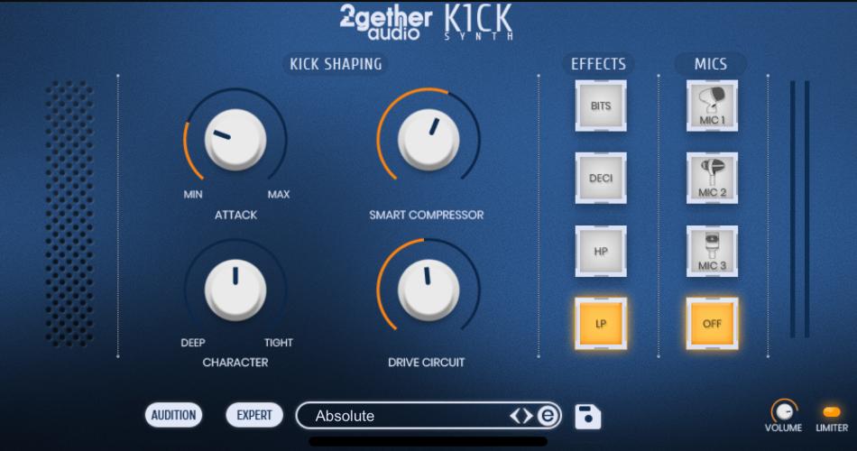 2getheraudio K1CK simple view