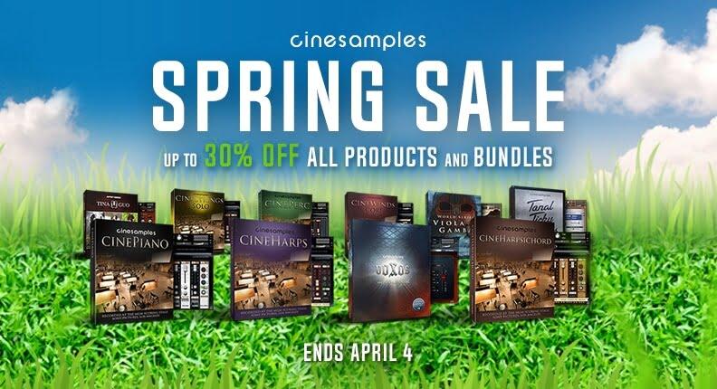 30% OFF Cinesamples Spring Sale