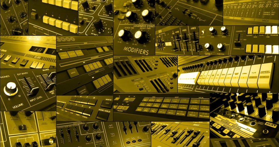 Cluster Sound Synth Collage