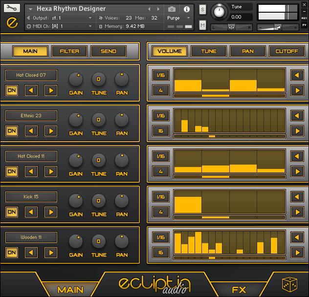 Ecliptiq Audio HEXA I Rhythm Designer