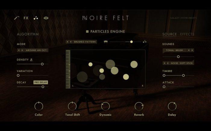 NI Noire felt particles