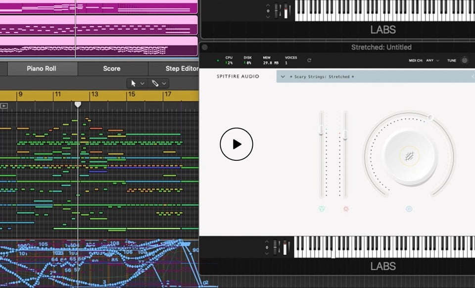 Spitfire Audio releases free LABS Scary Strings virtual instrument