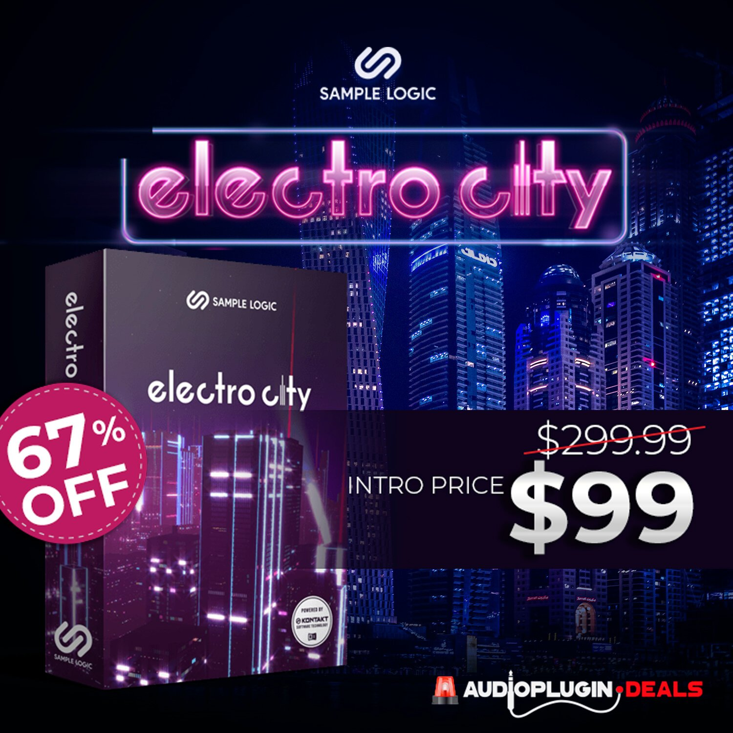 Save 67% on Sample Logic's Electro City for Kontakt Player at Audio Plugin Deals