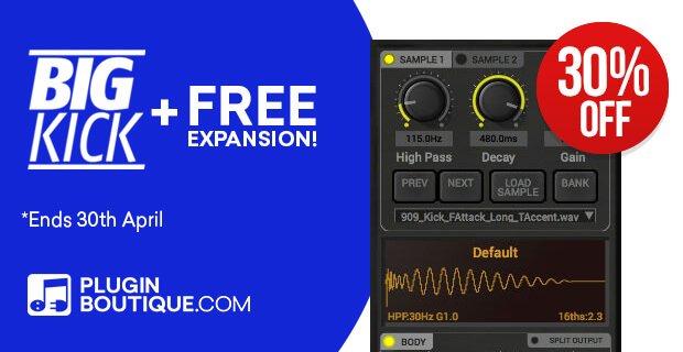 BigKick free expansion 30 PluginBoutique