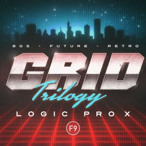 F9 Audio Grid Trilogy 80s Future Retro for Logic Pro X