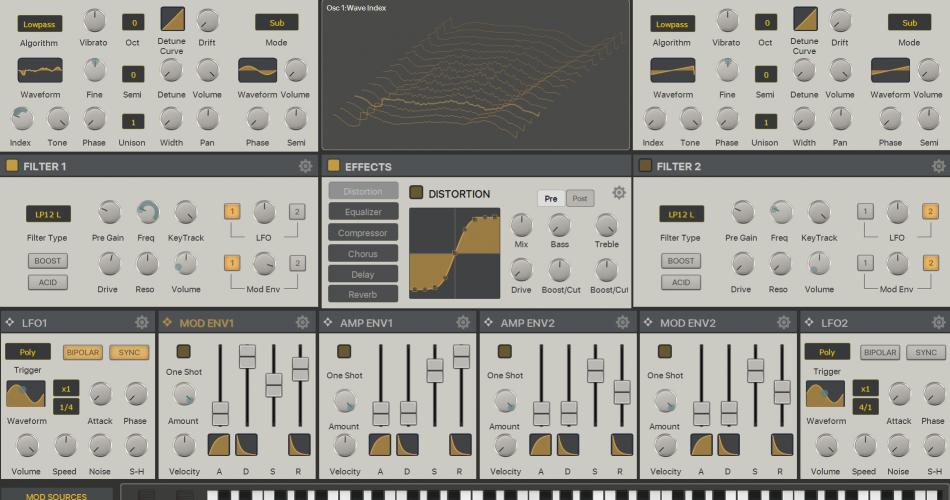 KV331 Audio SynthMaster One iPad Pro Skin