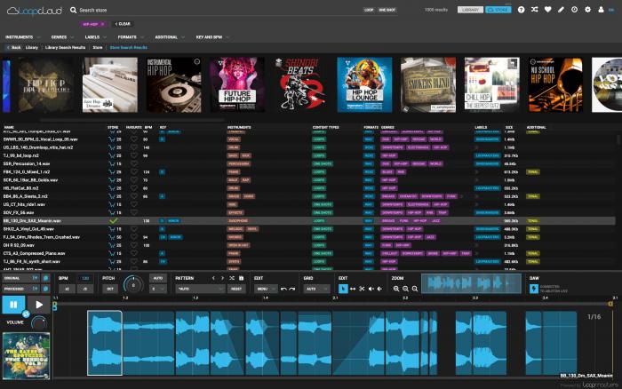Loopcloud 4.0 GUI