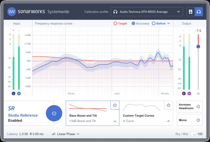 Sonarworks Reference 4 new headphone profiles GUI