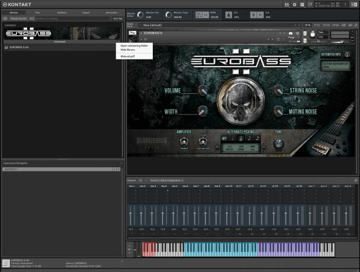 SubMission Audio EuroBass 2 GUI