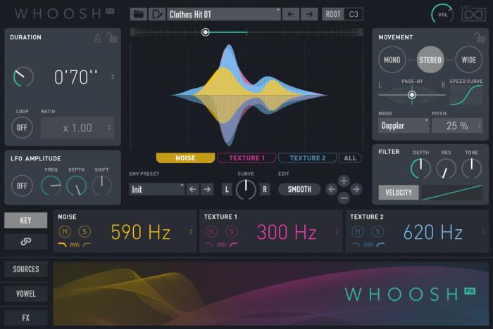 UVI Whoosh FX 01 MAIN 2 GUI