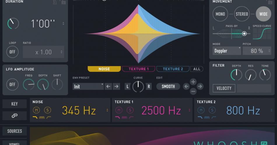 UVI Whoosh FX 01 MAIN GUI