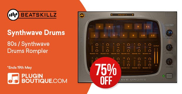 Beatskillz Synthwave Drums 75 OFF