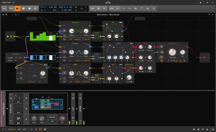 Bitwig Studio 3 Grid GUI