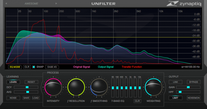 Zynaptiq UNFILTER 1.3.0