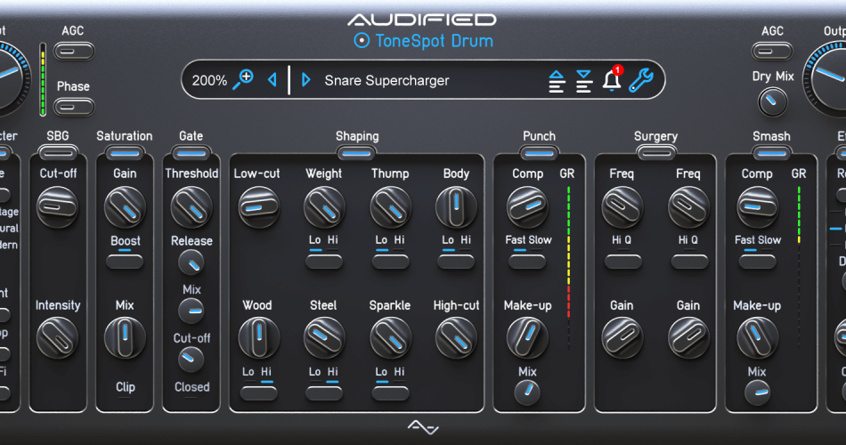 Audified Tonespot Drum Pro GUI