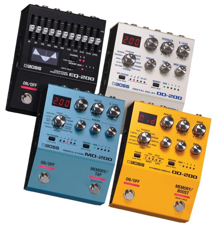 BOSS 200 Series stompboxes