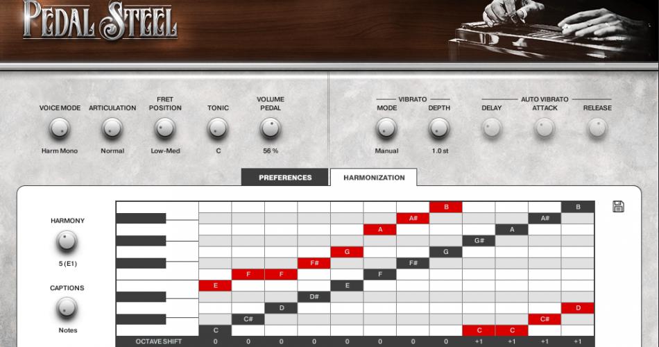 Impact Soundworks Pedal Steel harmonization