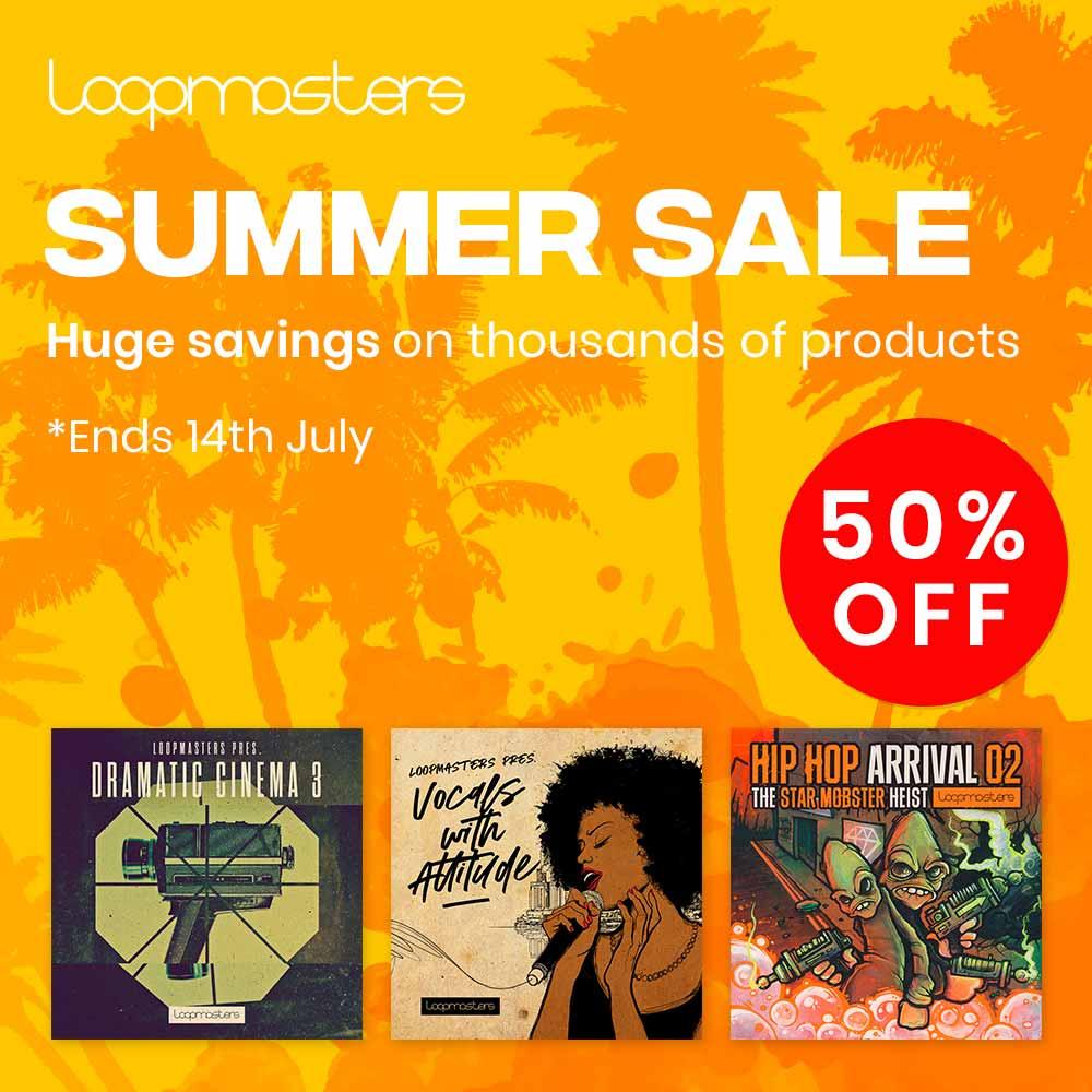 loopmasters summer sale 2019 get 50 off sample packs synth presets courses. Black Bedroom Furniture Sets. Home Design Ideas