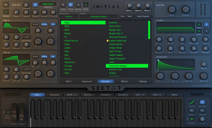 Sektor Wavetable Synthesizer
