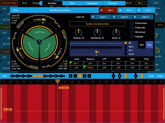 SynthScaper Osc control
