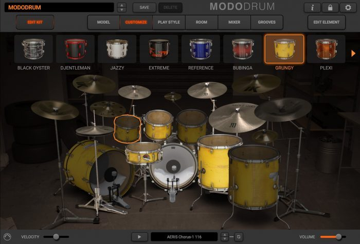 modo drum customize edit kit grungy