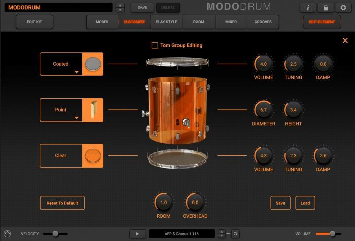 modo drum customize tom plexi