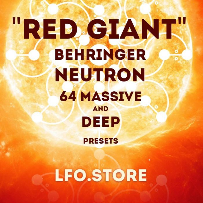 LFO Store Red Giant Behringer Neutron soundset