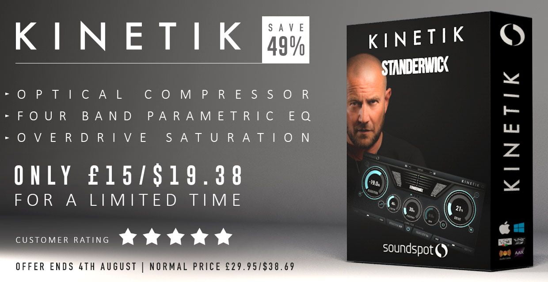 SoundSpot's Kinetik multi-effect plugin is on sale for $19 USD