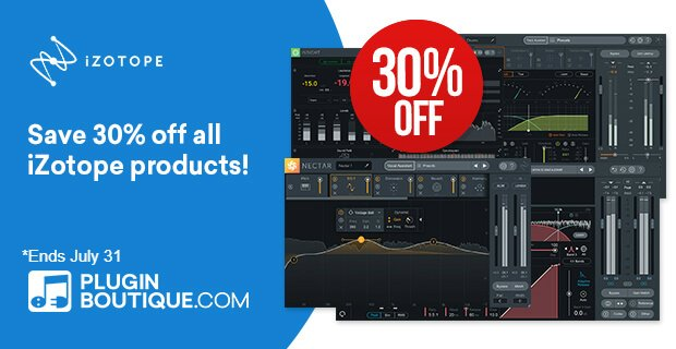 iZotope 30 OFF Sale