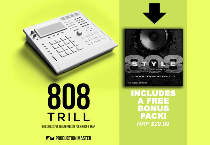 Production Master 808 Trill 808 Serum Presets Plus Bonus Banner ADSR