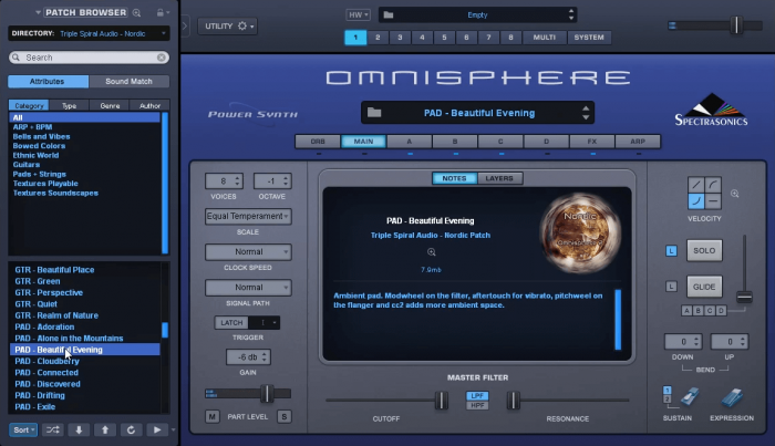Triple Spiral Audio Nordic for Omnsiphere 2.6