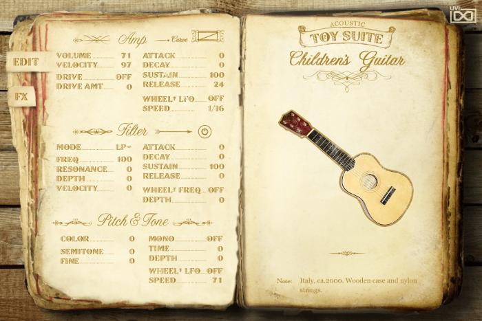 UVI Toy Suite Acoustic Children's Guitar