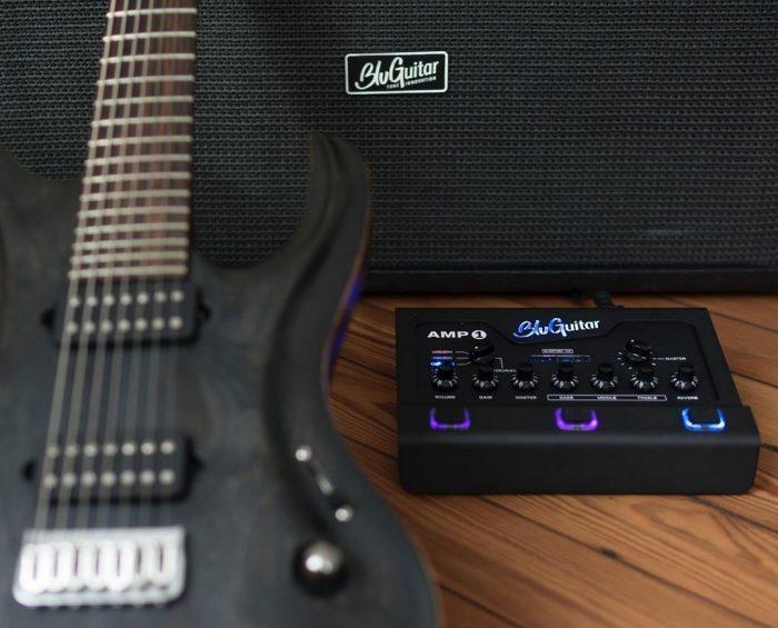 BluGuitar AMP1 Iridium Edition with guitar