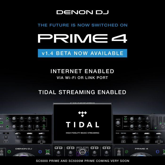Denon DJ Prime 4 TIDAL beta