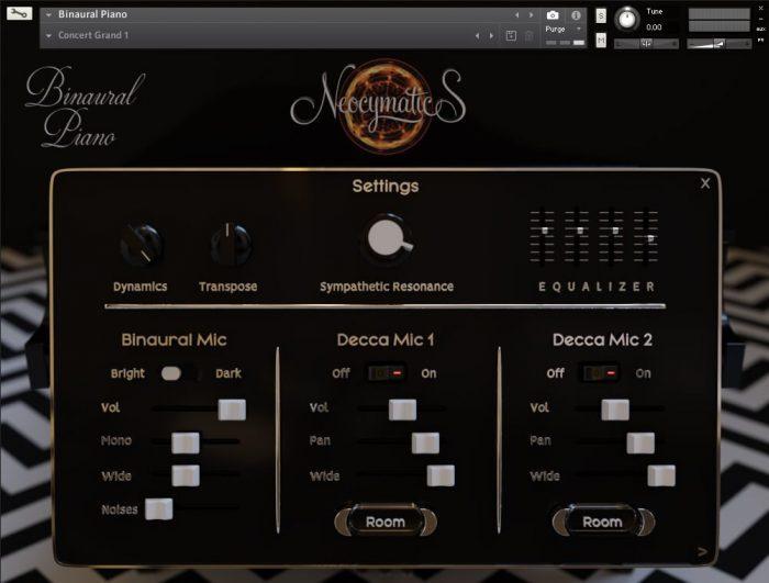 Neocymatics Binaural Piano settings
