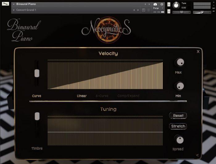 Neocymatics Binaural Piano velocity
