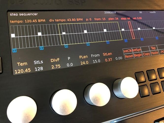 Percussa SSP step sequencer