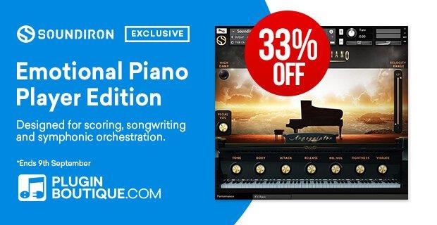 Soundiron Emotional Piano Kontakt Player 33% OFF