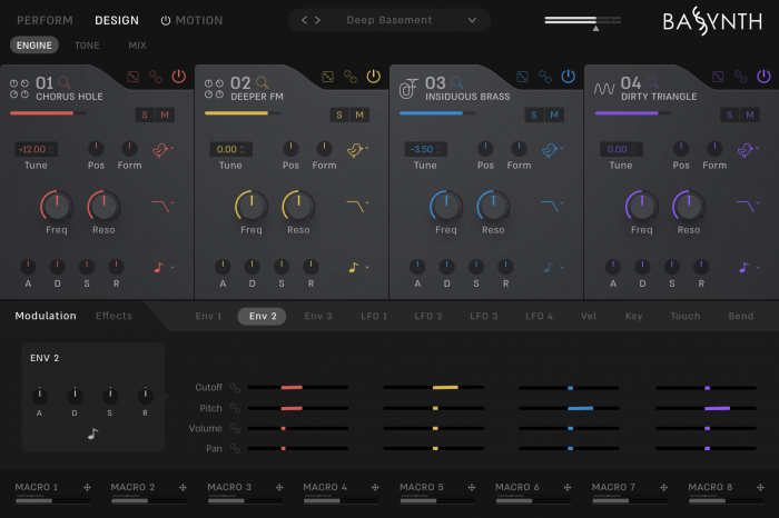 Wave Alchemy Bassynth Engine Page