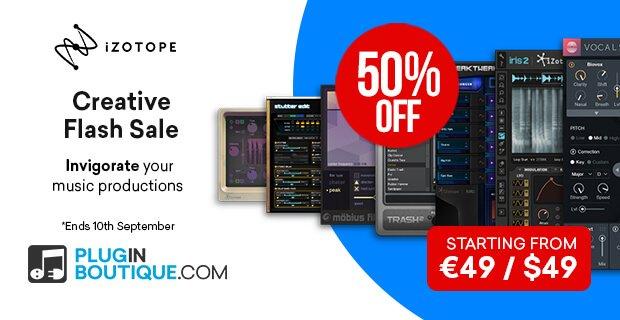 iZotope Creative Flash Sale