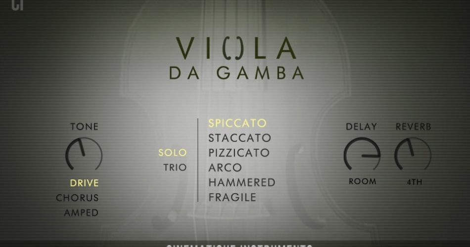 Cinematique Instruments Viola da Gamba