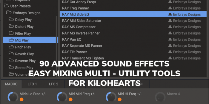 90 presets for Kilohearts Snap Heap