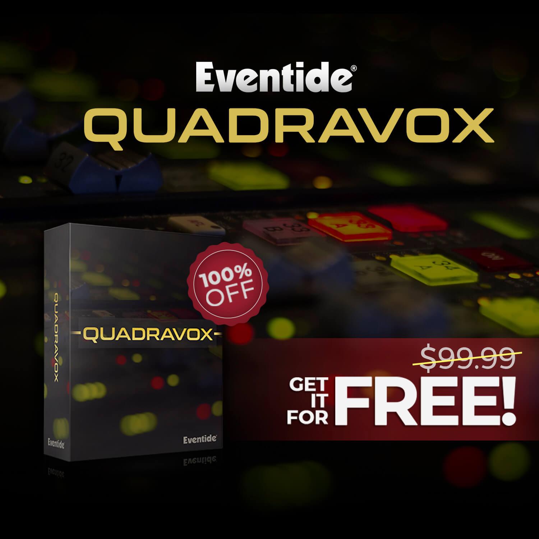 Get Eventide Quadravox pitch shifting harmonizer FREE at Audio Plugin Deals!