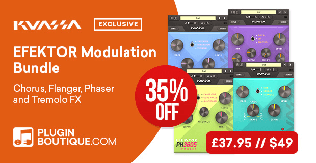 Kuassa Efektor Modulation Bundle Sale