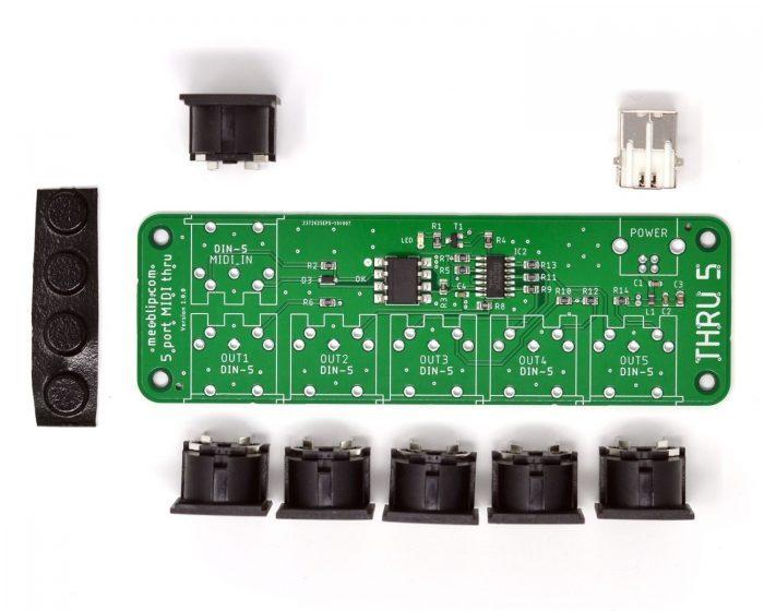 MeeBlip thru5 MIDI Splitter Kit
