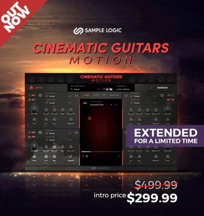 Sample Logic Cinematic Guitars Motion extended