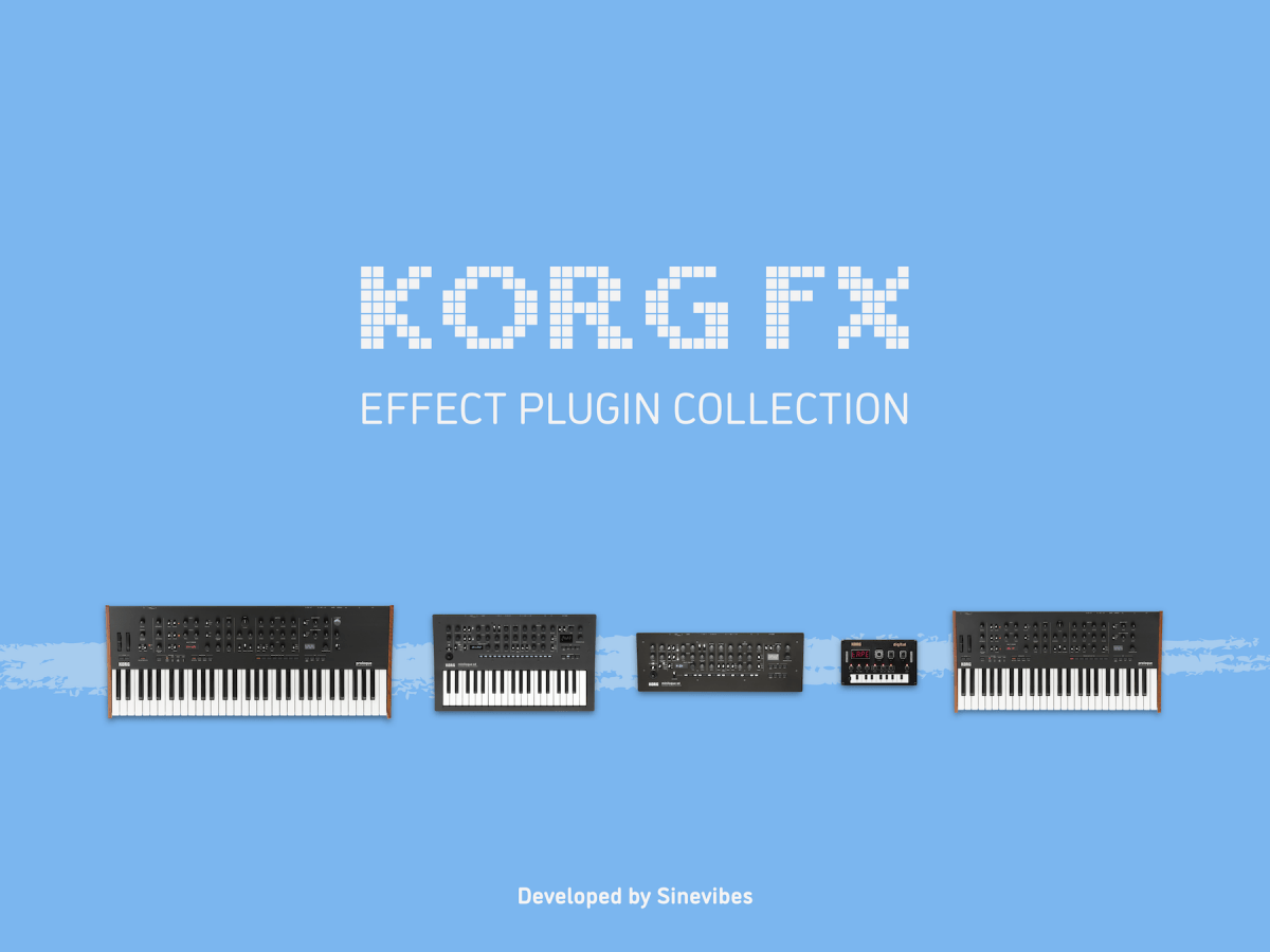 Sinevibes releases Korg FX for Korg prologue, minilogue xd & NTS-1 synthesizers